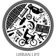 Circle of urban life — Stock Photo