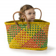 Baby in Basket — Stock Photo #30391891