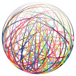 Complex ball made of strings — Stock Photo