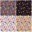 Set of four colorful geometric patterns — ストック写真