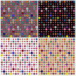 Set of four colorful geometric patterns — Stock Photo #35008073