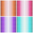 Set of four colorful geometric patterns — Stock Photo #35008157