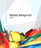 Abstract background made of colorful, straight and sharp shapes — Stock Photo