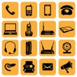 Telecommunication icons — Stock Photo #38716843