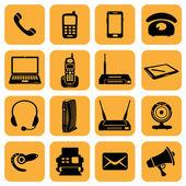 Telecommunication icons — Stock Photo