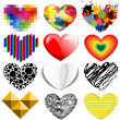 Set of twelve hearts — Stock Photo #39477763