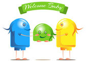 Welcome for the new baby — Stock Photo