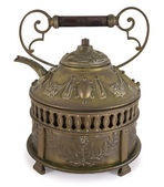 Old bronze teapot including path — Stock Photo