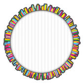 Round colorful frame made of many small lines — Stock Photo