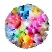 Abstract ball including clipping path — Stock Photo