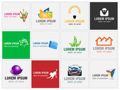Set of twelve icons for business logos — Stock Photo