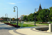 View of the Lenin's square in Astrakhan — Stock Photo