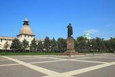 View of the Lenin's square in Astrakhan — Foto de Stock