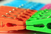 Colored plastic clothes peg — Stock Photo
