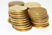 A stacks of gold coins — Stock Photo