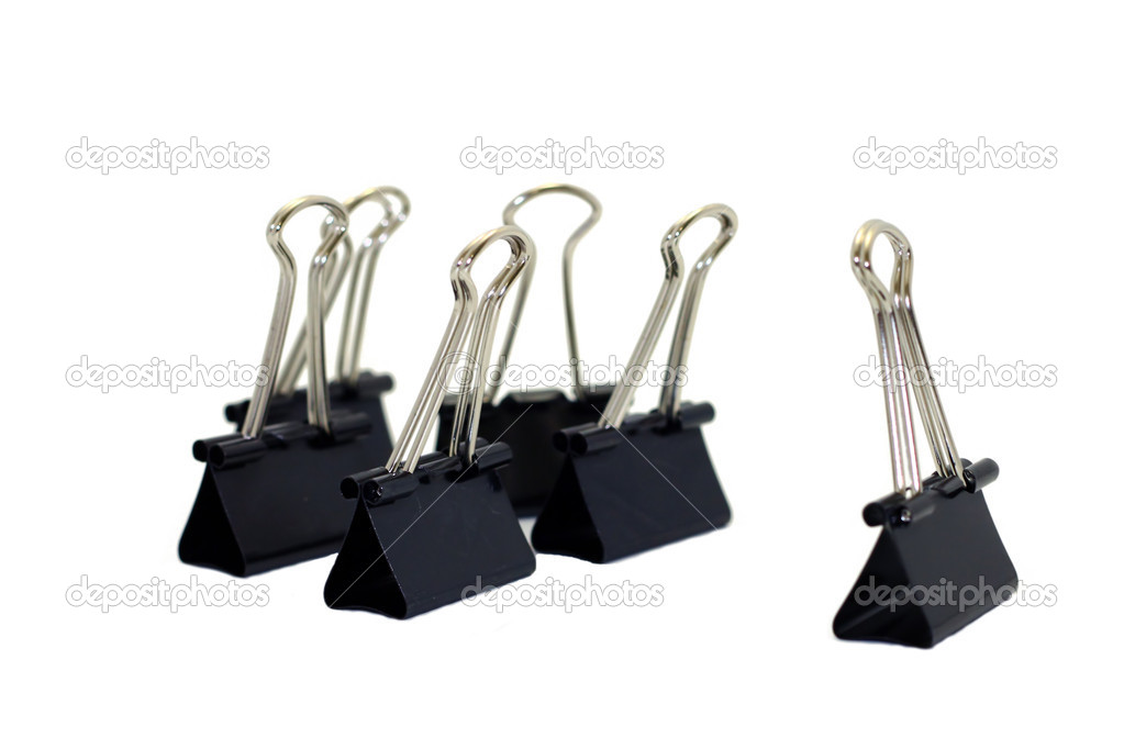 Meeting in the office of the binder clips — Stock Photo #13849723