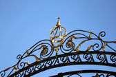 The gate of the Orthodox Church — Stock Photo