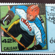 Postage stamp devoted to winter sports  Calgary 88 — Stock Photo