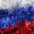 New year&amp;#039;s tinsel. The colors of the Russian flag - Stock Photo