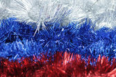 New year's tinsel. The colors of the Russian flag — Stock Photo