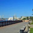 Stock Photo: Central embankment in summer of 2012. Astrakhan