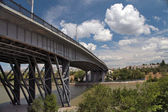 The road bridge through the Volga-don canal — Stock Photo