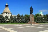 Вид на площадь Ленина в Астрахани — Стоковое фото
