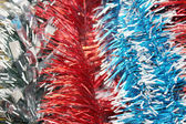 New year's tinsel. Background — Stock Photo