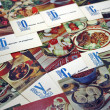 Postcards of the times of the USSR — Stock Photo