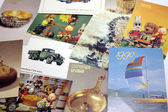 Pocket calendars of the 1990s. THE USSR, THE CIS — Stock Photo