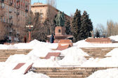 "Fountain ""Art"".winter 2013. Volgograd — Stock Photo"
