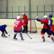 Hockey match of Amateur commands at the Volgograd indoor ice rink — Foto Stock