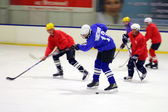Hockey match of Amateur commands at the Volgograd indoor ice rink — Stock Photo