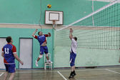 The match on volleyball among Amateur teams — Stock Photo