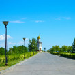 Avenue to the temple-chapel in honour of the Vladimir icon of the Mother of God — Stock Photo #26515893