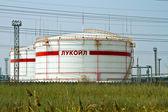 Vista dos departamentos de produção da refinaria de volgogrado. — Fotografia Stock