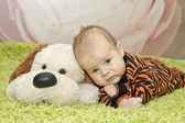 A baby in a suit tiger — Stock Photo
