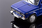 Miniature model of the car VAZ 2106 with reflection — Stock Photo