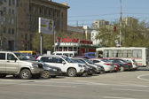 Problem of absence of underground Parking lots — Stock Photo