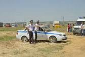 Police inspectors in the summer uniform — Стоковое фото