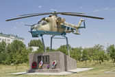 Monument to soldiers - aviators attempted to repel the Chechen Basayev's gang in June 1995 — Stock Photo