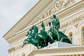Bronze quadriga of the Bolshoi Theater — 图库照片