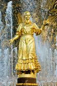 Fountain detail. Golden statue — Stock Photo
