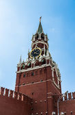 Red square, Spasskaya tower of Kremlin, Moscow, Russia — Stock Photo