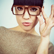Portrait of the girl wearing spectacles — 图库照片