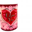 Stock Photo: I Love You Candle