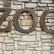 Zoo Sign — Stock Photo