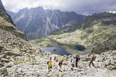 Path to summit of Rysy in theTatra mountains, Slovakia — Stock Photo