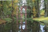 Ruins of Aqueduct, Romantic Garden in Arkadia, Poland — Stock Photo