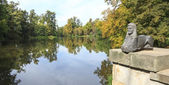The view from Diana Tempel in Romantic Garden, Arkadia, Poland — Stock Photo